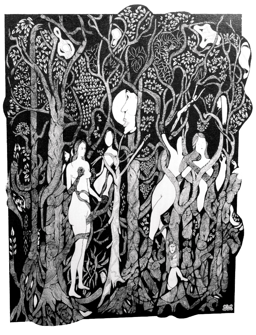 Four graces hidden in the woodland